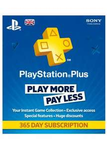 PlayStation Plus 12 Month, £33.50, electronic first