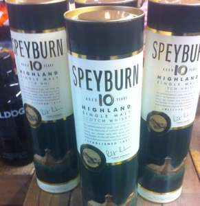Speyburn 10year highland scotch single malt whisky 70cl half price at £19.49. Booths longridge instore