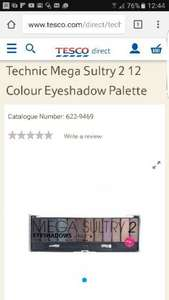Technic Mega Sultry 2 12 Colour Eyeshadow Palette  £2.26 @ Tesco direct / xtras