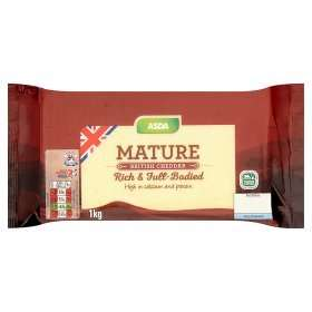 ASDA Mature British Cheddar Cheese1kgfor £4.00 in store & online