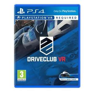 Driveclub VR PS4 £14.99 @ Smyths - free click and collect