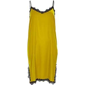 Lime velvet lace trim slip dress Was £32.00 Now £10.00 + £1 delivery - £11.00 riverisland