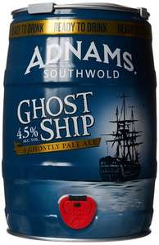 Adnams Ghost Ship Pale Ale Mini Keg, 5 L, £15 delivered - Amazon prime exclusive