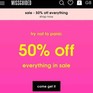 50% off everything in missguided sale