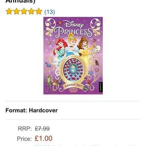 DISNEY PRINCESS 2017 ANNUAL £1 PRIME DELIVERED or FREE DELIVERY IF SPENDING OVER £10 on BOOKS.