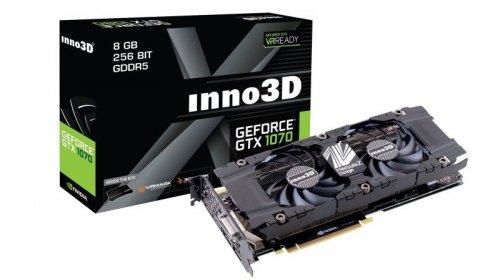 Inno3D Nvidia GeForce GTX 1070 8GB GDDR5 Twin X2 Graphics Card £368.98 from Ebuyer