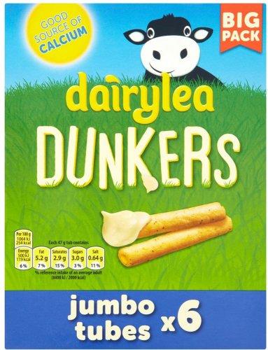 Dairylea Dunkers Jumbo Tubes (6 x 47g) was £3.00 now £2.00 @ Tesco