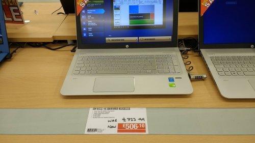 HP Envy 15-AE003NA laptop £506.10 @ Staples - Birkenhead