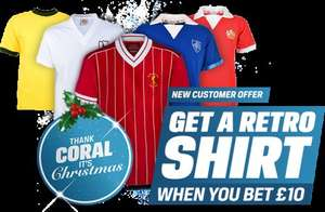 Free Retro Shirt with Coral - New customers only when you bet £10