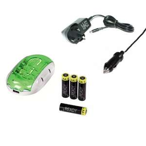 Battery charger and 4x2100mAh AA batteries £3.44 delivered @ Picstop