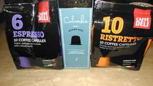 Nespresso style capsules £1 for 10 at poundworld