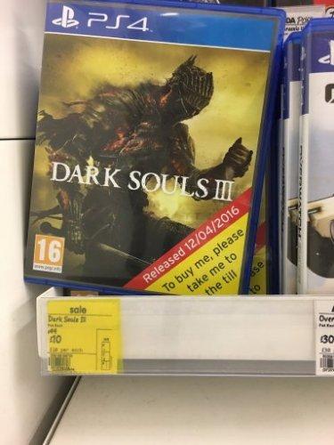 Dark soul 3 playstation 4 £10 instore @ Asda