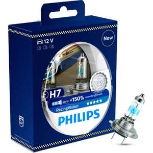 Philips Headlight Bulb (Racing Vision 150% Extra Light H7 Twin Pack) £24.29 @ EuroCarParts