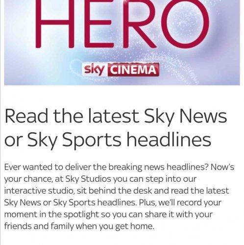 Sky Studios at The O2, London. Free