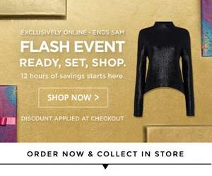 House of Fraser Flash sale - extra 10% off selected lines ends 5am tomorrow