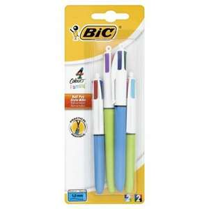 Bic 4 Colour Family Asstd 4 Pack 1/2 PRICE £2.50 WAS £5 TESCO DIRECT (FREE NEXT DAY C&C)