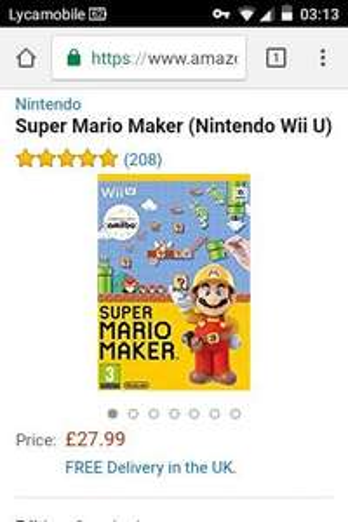 Super Mario Maker (WiiU) - £27.99 @ Amazon