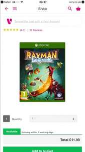 Rayman Legends Xbox One £11.99 C+C @ Very (or + £3.99 Home Del)
