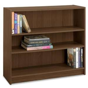 Fraser Walnut Effect 3 Shelf Bookcase, Wide for £6 at Tesco Direct (Free C+C)