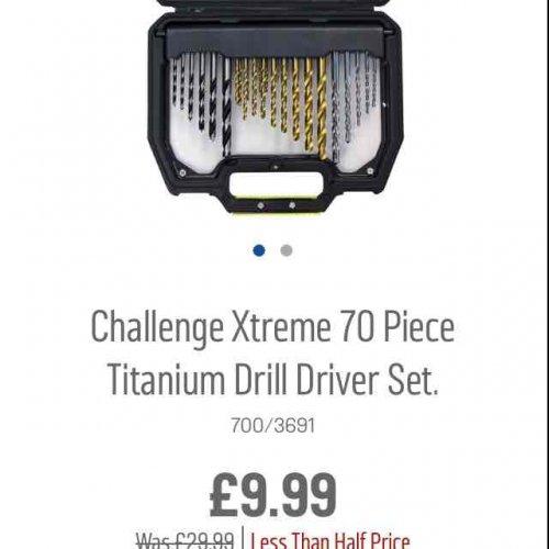 challenge xtreme 70 piece drill set £9.99 Argos