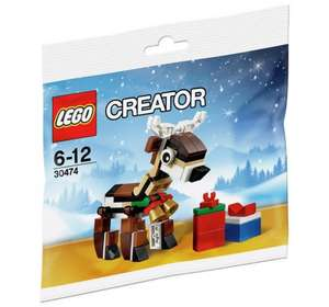 Christmas Lego: LEGO Reindeer - 30474 £2.99 Argos (buy one get one free in store AND online now)