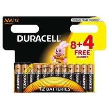 Duracell Basic AAA 8+4 Free. Labelled up at £3.99, scans at £2.66 instore Home Bargains Barrow in Furness.