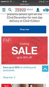 Tesco F&F clothing sale now on