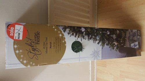 Pre-lit Christmas Tree - 6 feet for £10, 6 feet white for £5 at Asda Living Coventry
