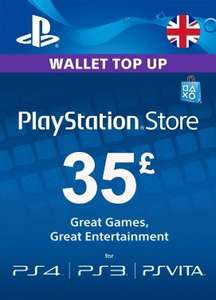 £35 PlayStation Network Card - £29.58 / £25 PlayStation Network Card - £21.00 / PlayStation Plus - 365 days - £32.58 - PressStart.com