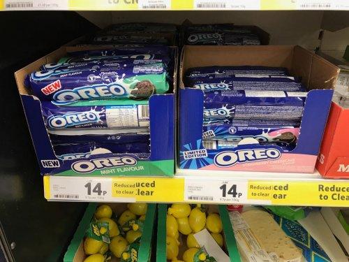 OREO 14p @ Tesco Extra -  Scotland Strawberry Cheesecake & Mint Flavour