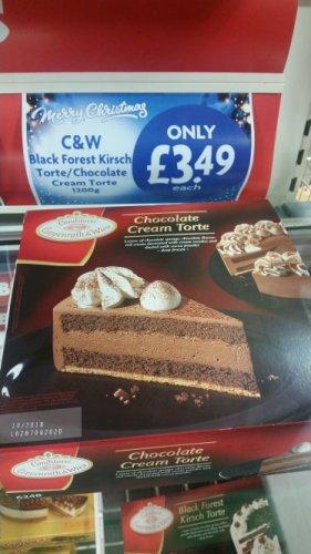 Black Forest Kirsch/ Chocolate Cream Torte 1200g £3.49 at Heron foods in Oldham