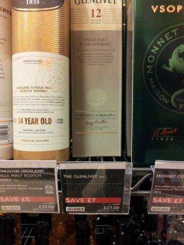 Glenlivet 12 year old 70cl £27.00 @ M&S (Instore)