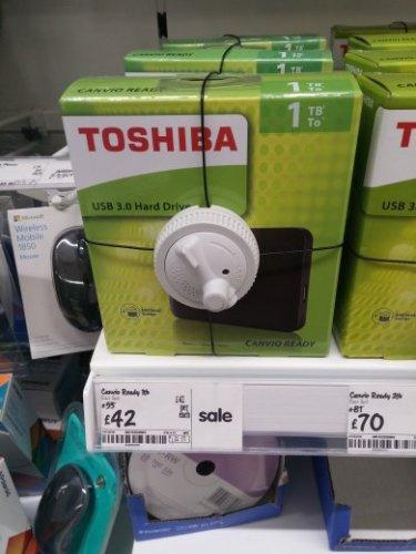 Toshiba Canvio Ready USB 3.0 1TB - £42 instore @ Asda