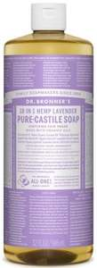 NO SOAP NO HOPE: Dr Bronner 18-In-1 Hemp Lavender Pure-Castile Soap (946 ml) £10.95 DELIVERED @ dolphinfitness