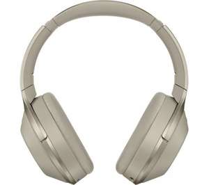 SONY MDR-1000X Wireless Bluetooth Noise-Cancelling Headphones - Black / Beige - with discount code £296.99 Currys