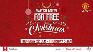 Sky customers with sky sports can watch MUTV for free between 22nd Dec and 5th Jan