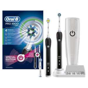 Oral-B Pro 4900 Electric Rechargeable Toothbrush Powered by Braun - Black £64.99 @ Amazon