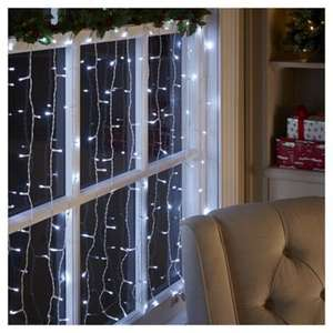 [EXPIRED] 200 Connectable Icicle Christmas Lights, Bright White - £10 (free click & collect) Tesco Direct
