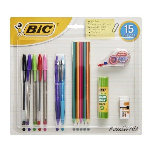 Bic Writing 15 Piece Set 1/2 PRICE £2.25 WAS £4.50 WILKOS (FREE C&C)
