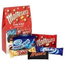Half Price Sweets/Chocolate Prices from £1.00 ( Malteser Funsize Selection Pack) @ Tesco