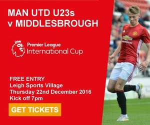 Manchester United vs Middlesbrough u23s Premier League International Cup @ Leigh Sports Village