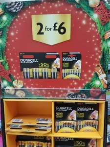 Duracell Batteries 2 packs for £6 (16AA or 16AAA or 8 of each) at morrisons
