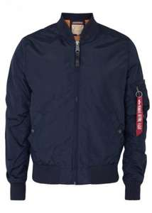 ALPHA INDUSTRIES MA-1 Navy Shell Bomber Jacket £60 @ Harvey Nichols