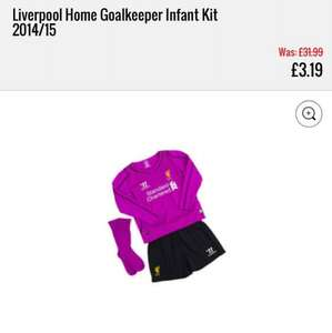infants Liverpool FC goalkeeper kit £3.19 instore @ kitbag