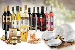 12 Bottles of Italian Wine, various Foody bits, Hamper & 12pc Dinner Set (free delivery) £59 @ LivingSocial