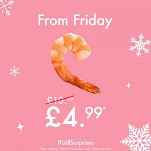 Deluxe King Prawns (720g) £4.99 instore @ Lidl From Tomorrow!
