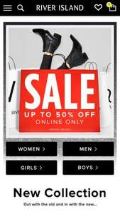 River Island Sale now online