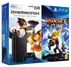 PS4 500GB Slim with Overwatch and Ratchet & Clank with NOW TV 2 Month Sky Cinema Pass £199.99 @ Game