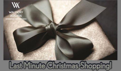 Edinburgh Christmas Gifts at Waldorf