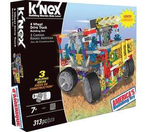 K'nex 4 wheel drive truck with lights and fab reviews was £24.99 now £12.49 @ Argos